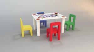 children table 3ds