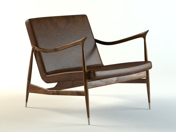 vintage dinamarquesa design chair 3d model
