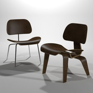 3ds max eames lounge chair wood