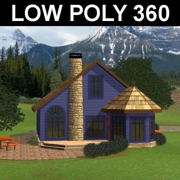 3d model cabin house
