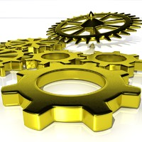 3ds max gear sprocket cog