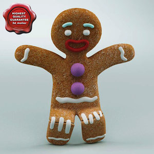 gingerbread man rigged max