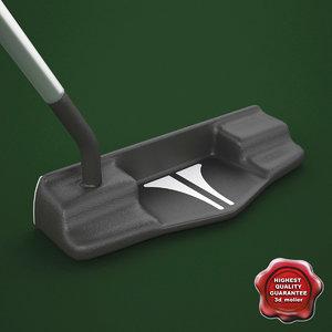 3d model golf blade putter 1c