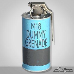 3d grenade blue dummy