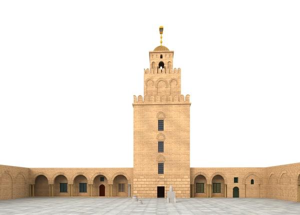 3dsmax mosque great kairouan