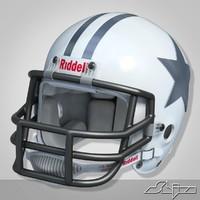 3d model helmet riddell