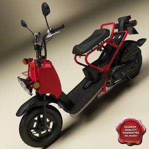 honda zoomer scooter 3d model