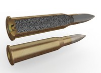 mosin rifle cartridge 3d model