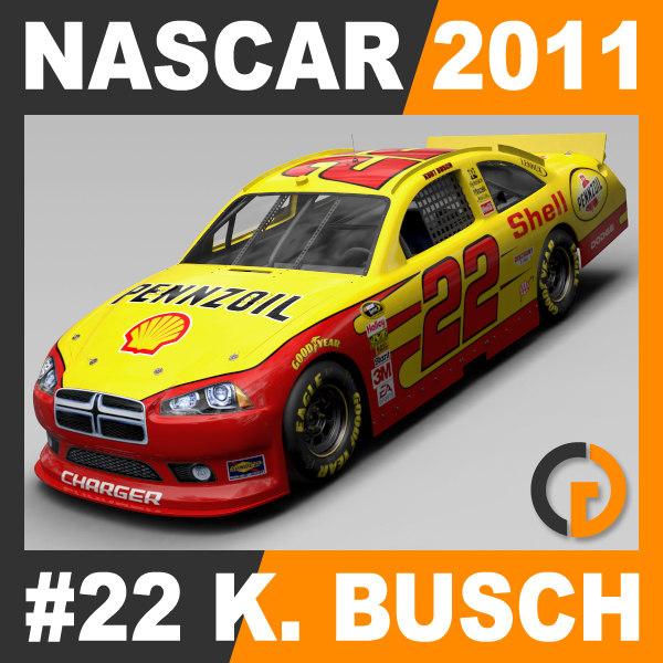 nascar 2011 kurt busch 3d 3ds