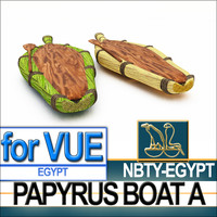 Ancient Egyptian Papyrus Boat A