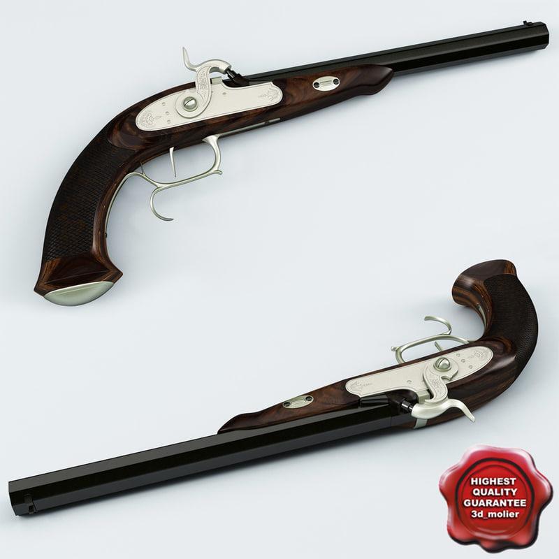 old musket pistol 3d model
