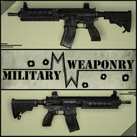 3d hk416 m4 rifle