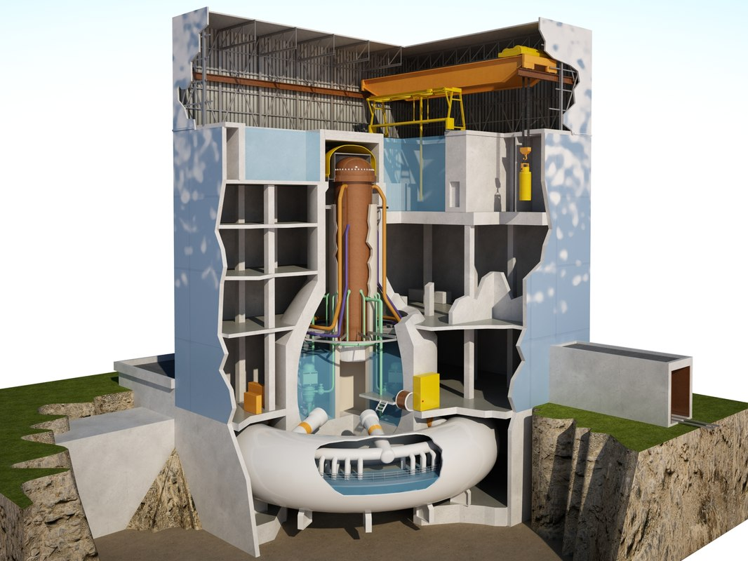 3d model of reactor nuclear