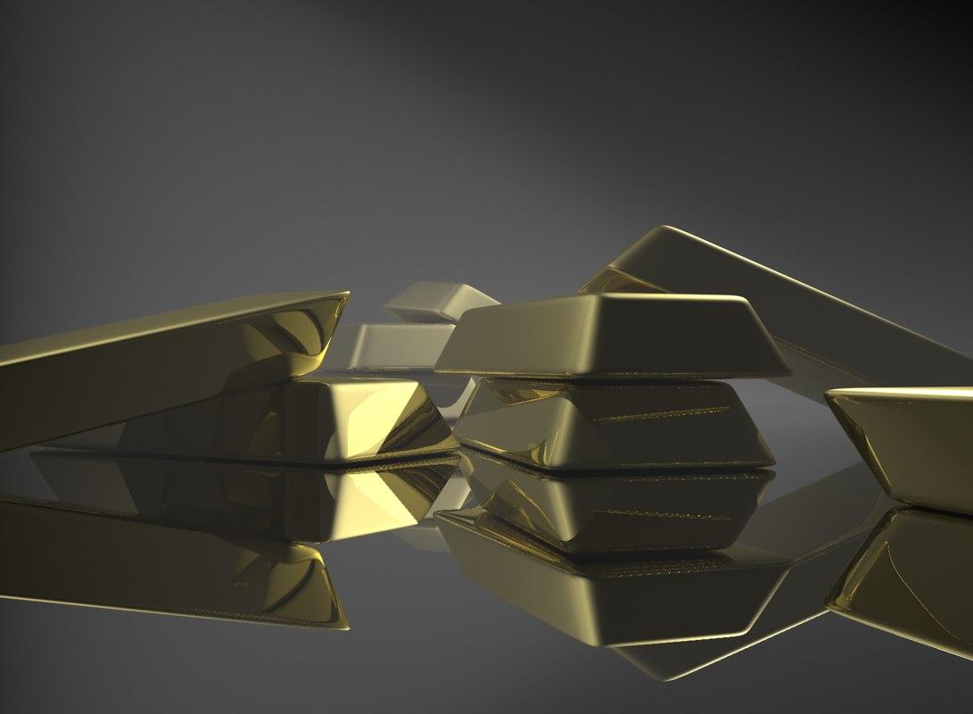 gold bar 24k 3d max
