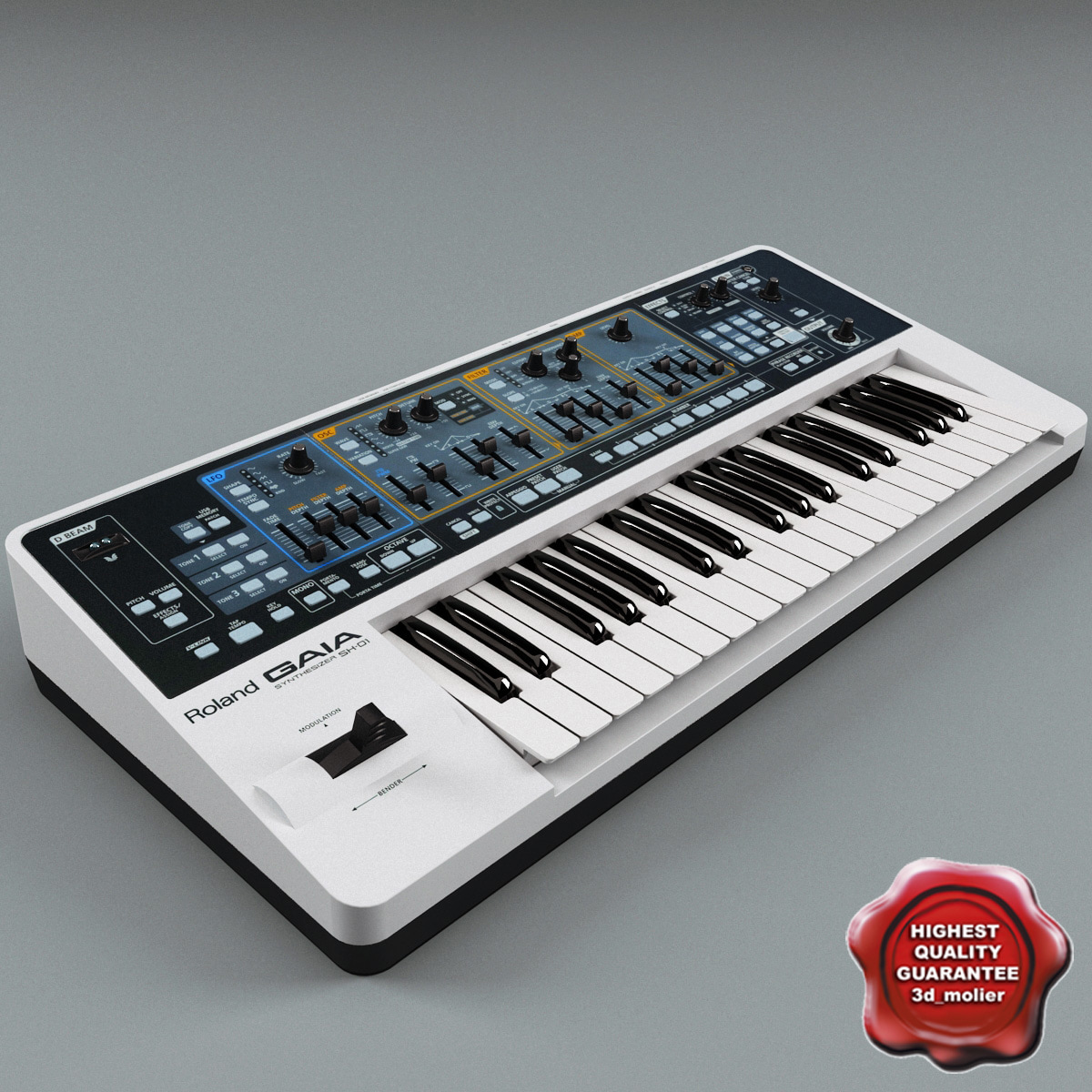 3d synth roland sh01