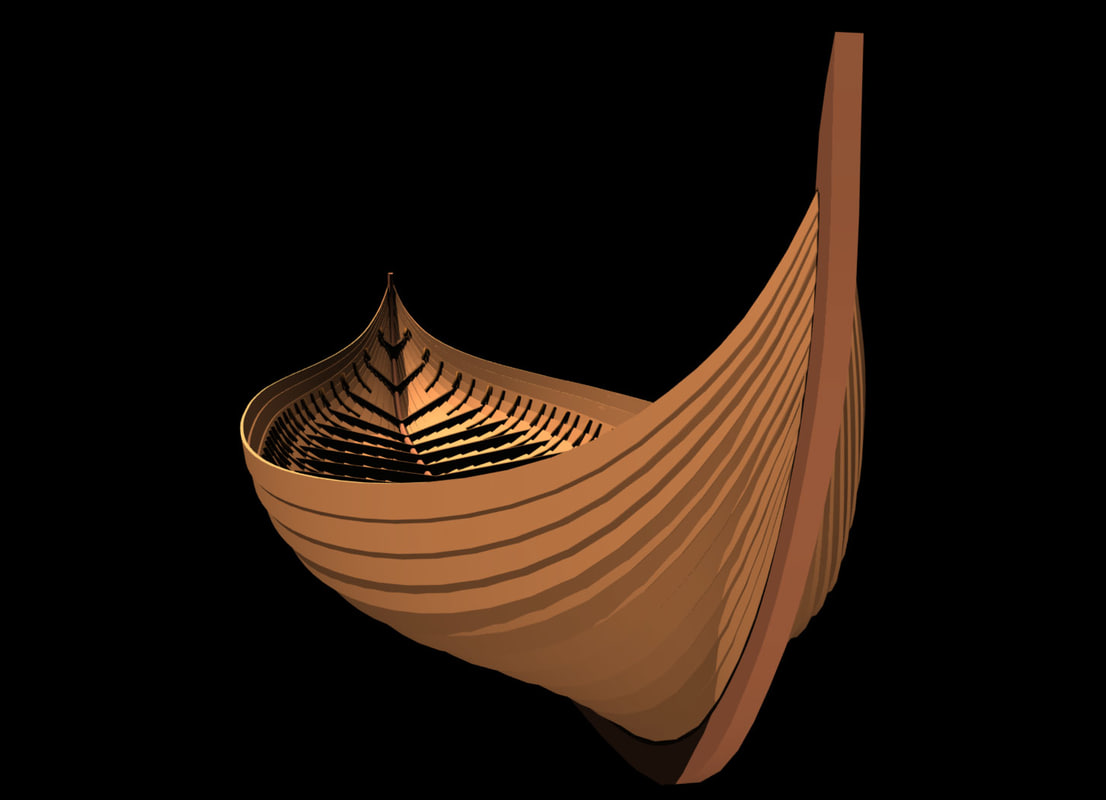 hull historically viking ship lwo