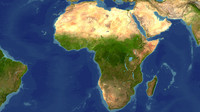 3d africa maps