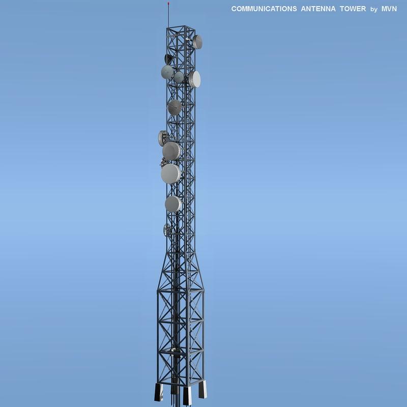 antenna tower communications 3d xsi