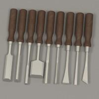 3ds max wood chisel