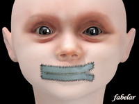 3ds max baby monster head