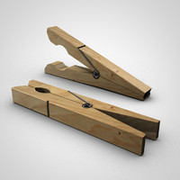 free clothes pin 3d model