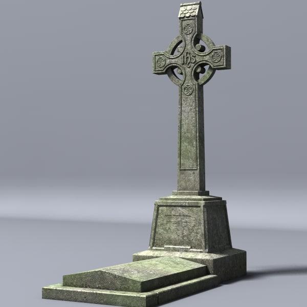 lightwave celtic gravestone