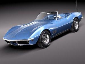 3d chevrolet corvette c3 1969 model