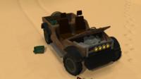 3d model jeep desert