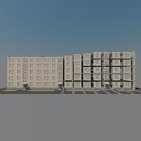 panel building soviet union 3d model
