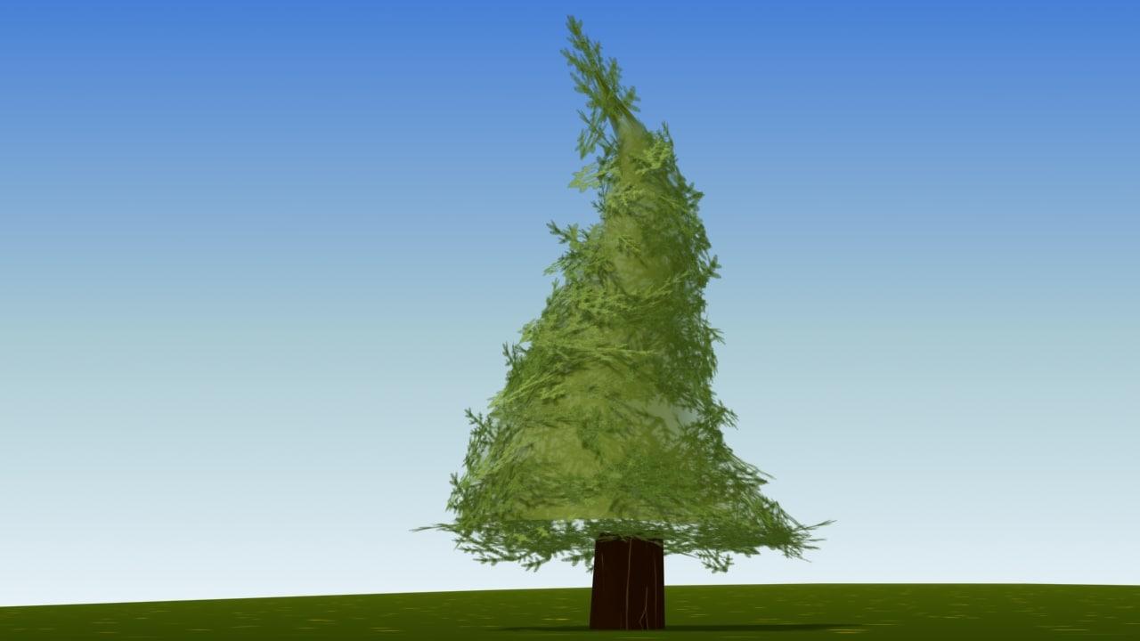 max cartoon fir tree