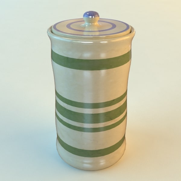 3ds canister lid ceramic