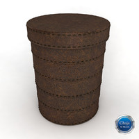 laundry basket 3d model