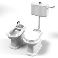 lineatre hermitage classic traditional wall bidet wc toilet