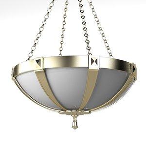 pendant suspension lamp 3d model