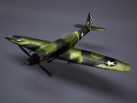3d wwii plane model