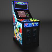 Gauntlet Arcade Low Poly