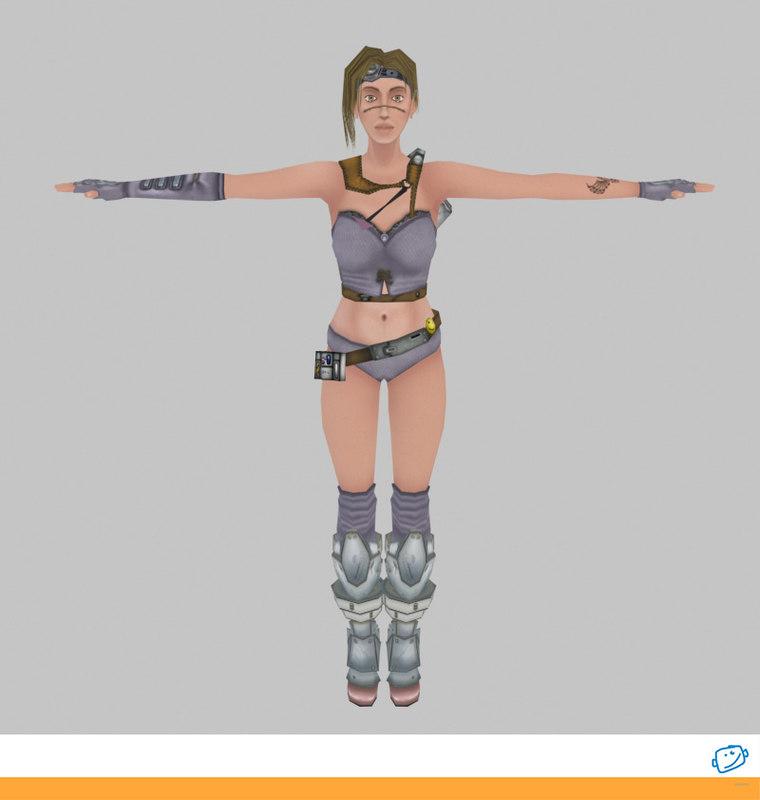 3d model girl sci-fi