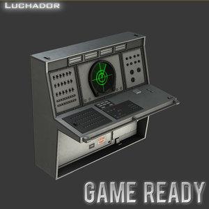 radar console games ready 3d model