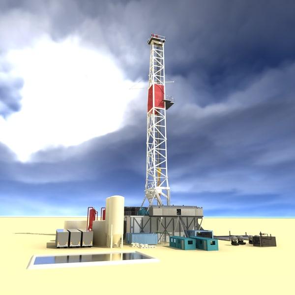 drilling rig land based 3d model