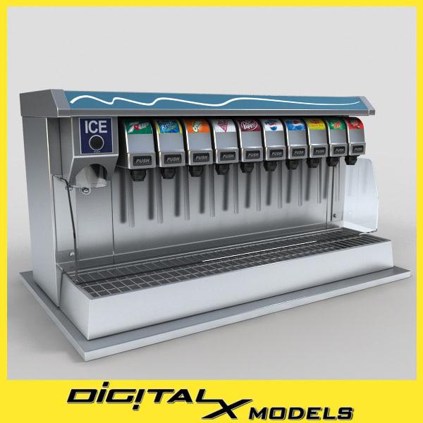 commercial drink dispenser 3ds