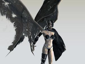 succubus female figure character 3d model