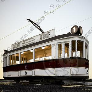 3d classic tram