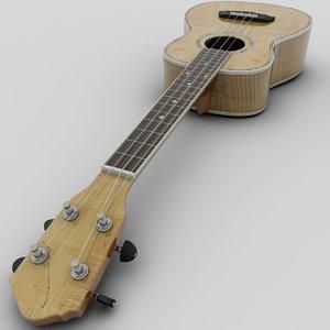 3d tenor ukalele