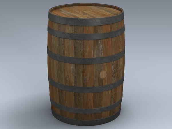 3d model whiskey barrel