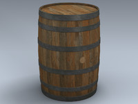 3d model whiskey barrel