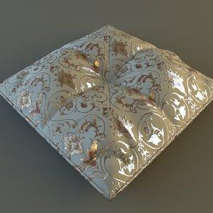 3d pillow materials model