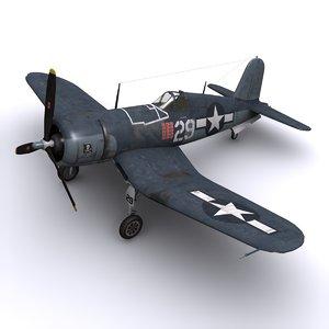 f4u corsair navy fighters 3d model
