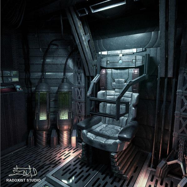 max space shuttle cabin interior