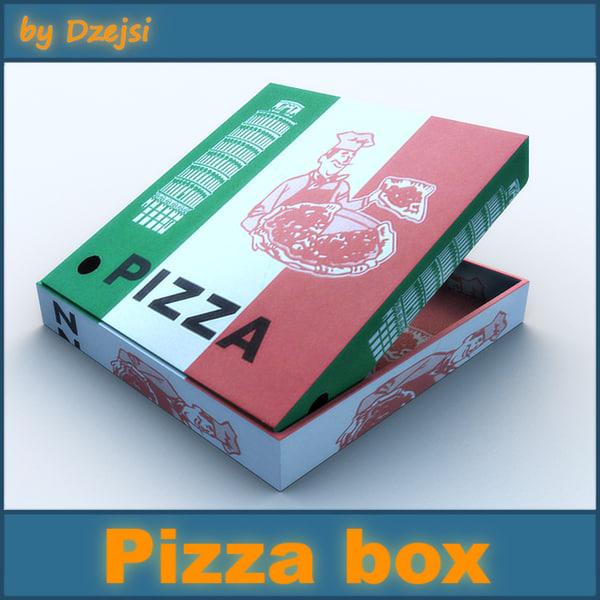 3d pizza box model