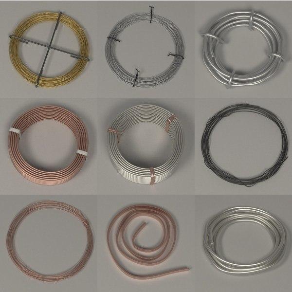 metal wires 3d 3ds